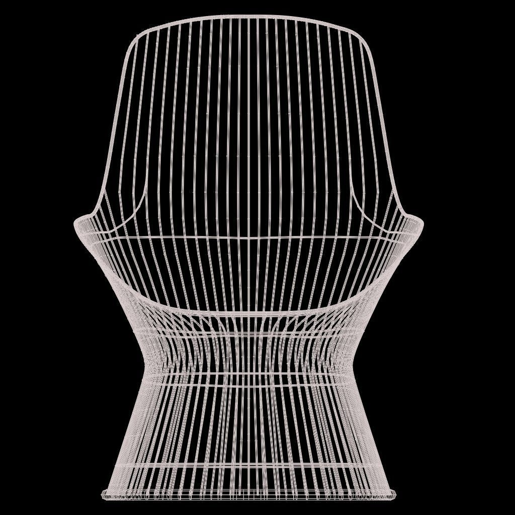 ... Warren Platner Lounge Chair 3d Model Max Obj Fbx Ma Mb Mtl 7 ...