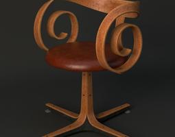 3d pair george mulhauser plycraft desk chairs
