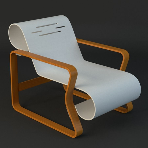 alvar aalto chair 3d model max obj mtl fbx ma mb 1