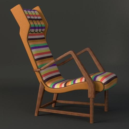 rare italian lounge chair 3d model max obj mtl fbx ma mb 1