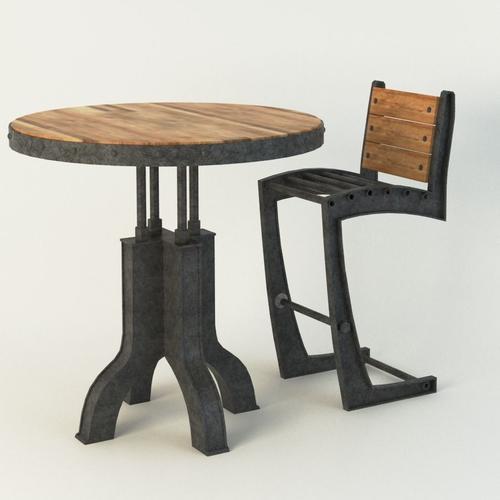 Vintage Industrial Chair 3D Model