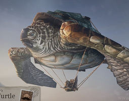 3D model Flying Turtle