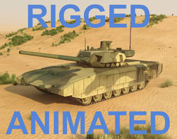t14 armata rigged and animated 3d model rigged animated max obj fbx
