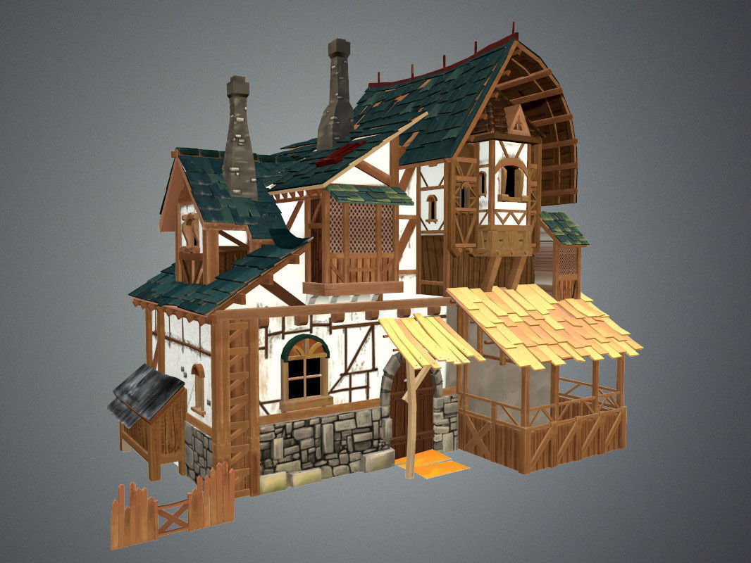 3d Model Stylized Fantasy Collection Vr Ar Low Poly