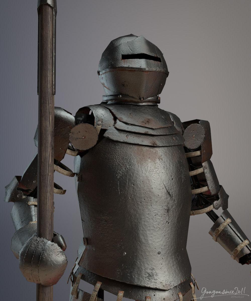 Medieval Plate Armor 3D Model OBJ MA MB | CGTrader.com