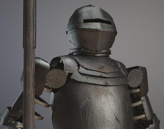 medieval plate armor 3d model obj mtl ma mb 1