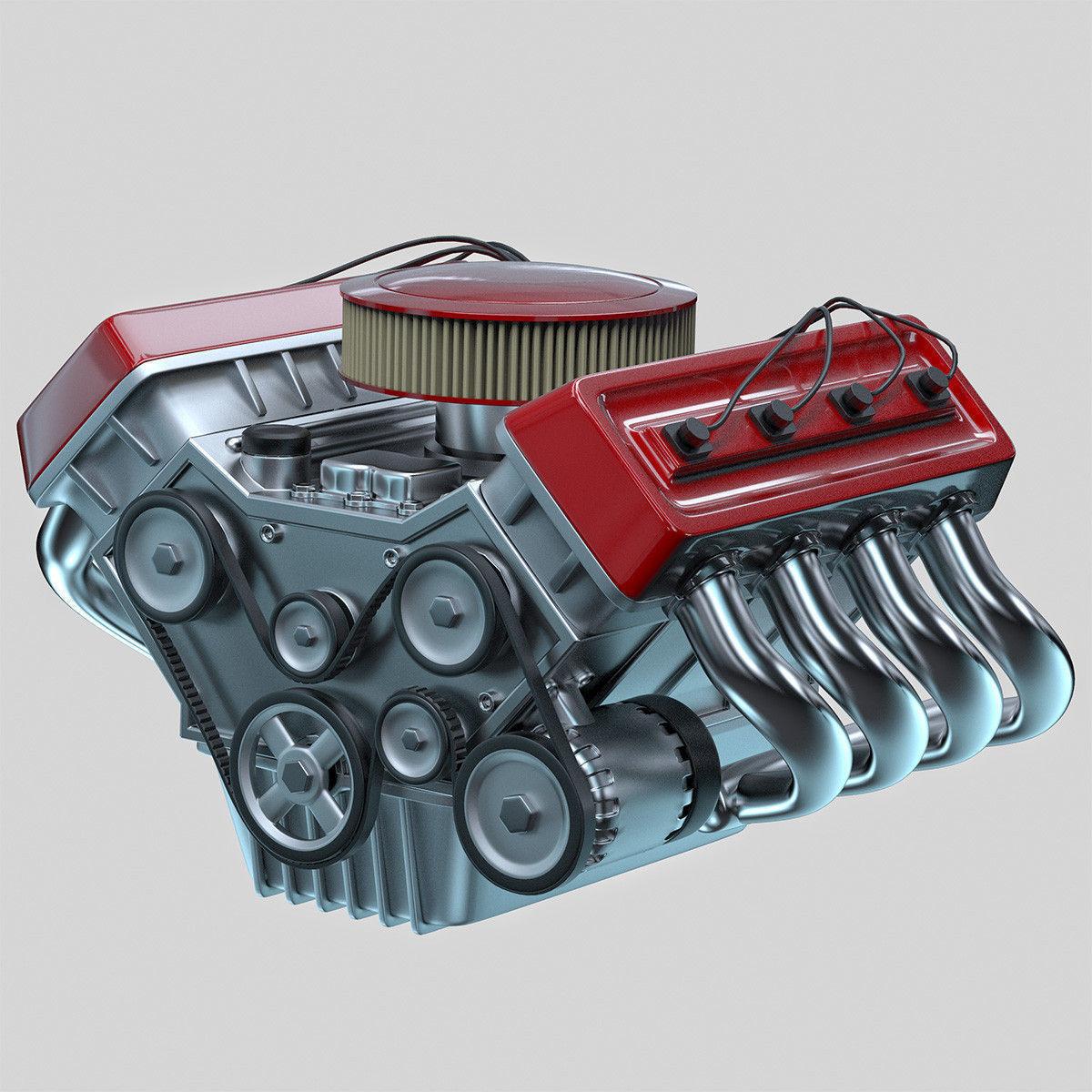 Car engine Animated | 3D model