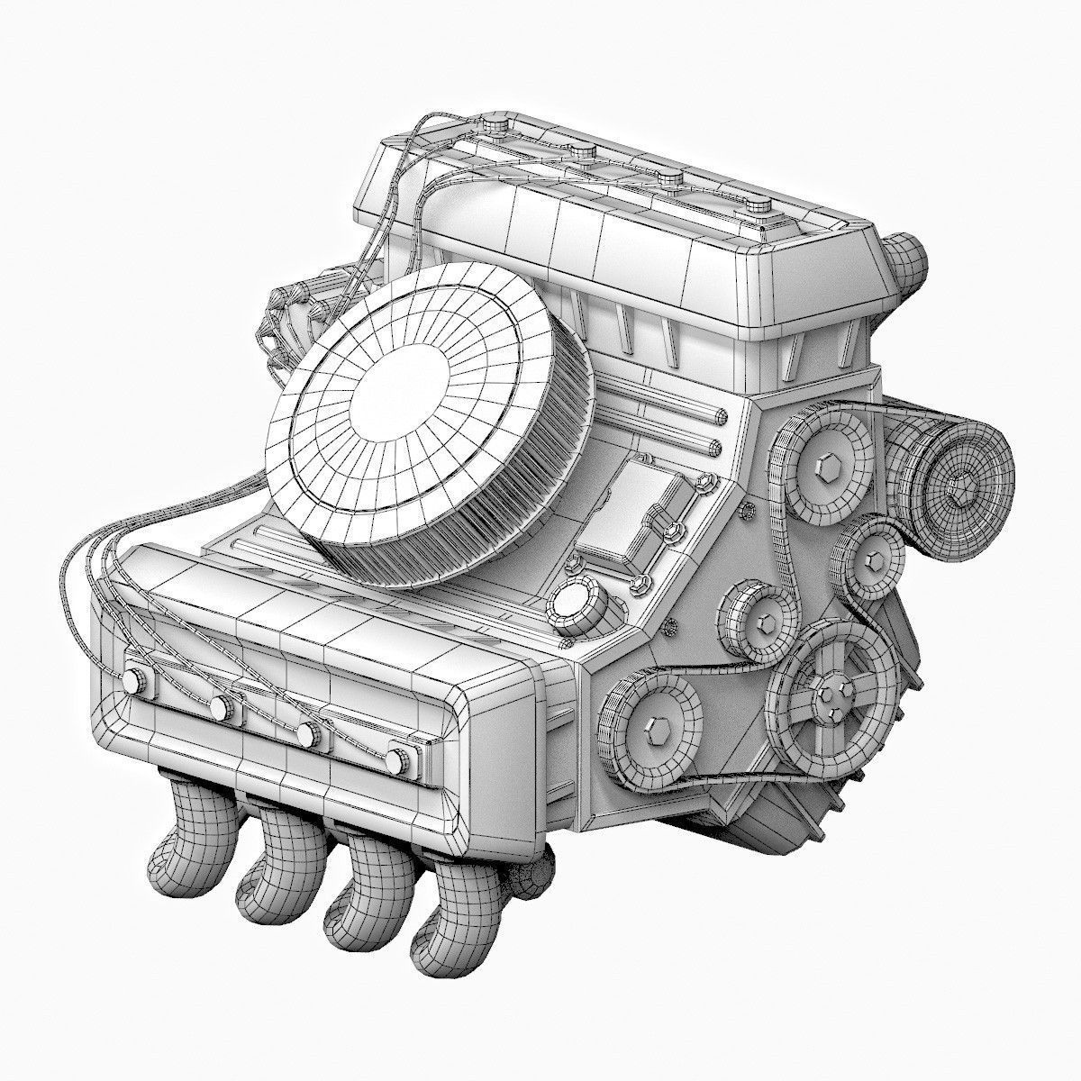 3D model Car engine Animated | CGTrader