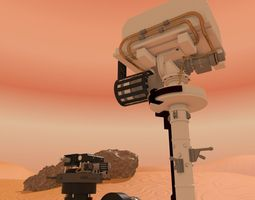 3d curiosity rover mars rigged