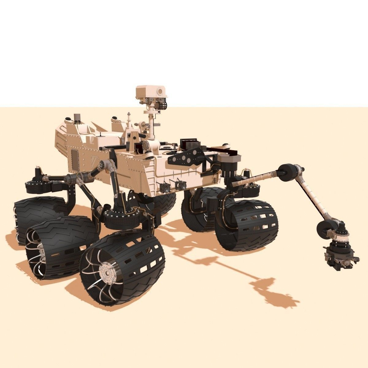 curiosity rover scale model - photo #12