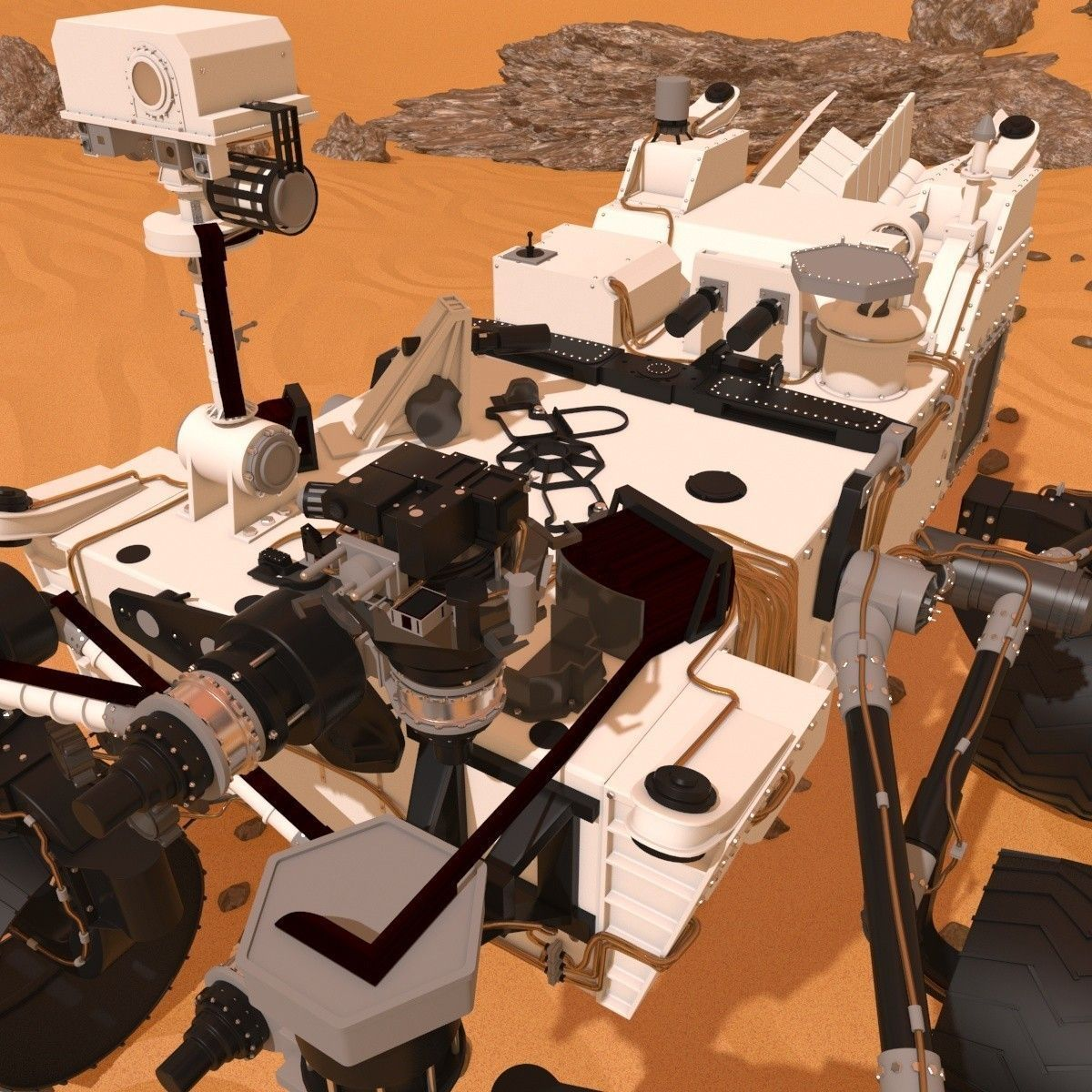 curiosity rover scale model - photo #13