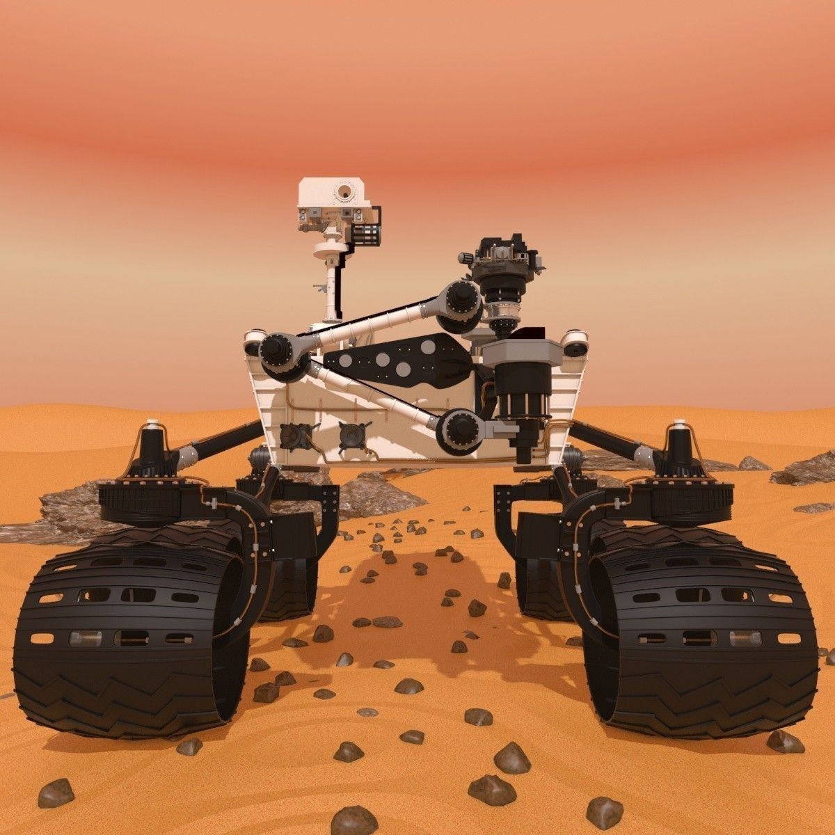 curiosity rover scale model - photo #17