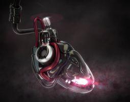 3d model cyber heart concept