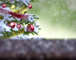 falling snow animation animated 3d model