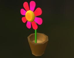 3D model realtime cartoon flower