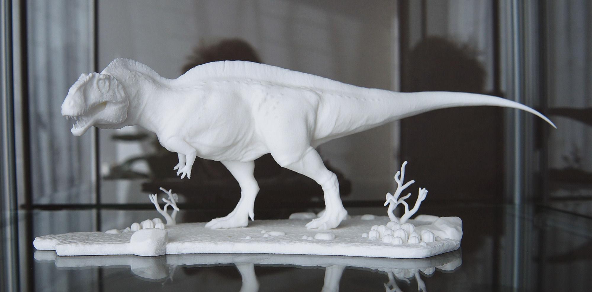 Acrocanthosaurus with Desert Pedestal HIGH QUALITY