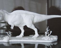 3d printable model acrocanthosaurus with desert pedestal high quality