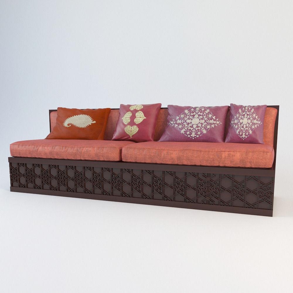 Moroccan Classic Sofa 3d Model Max 2
