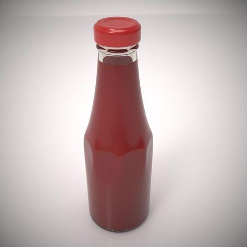 ketchup bottle 3d model max obj 1
