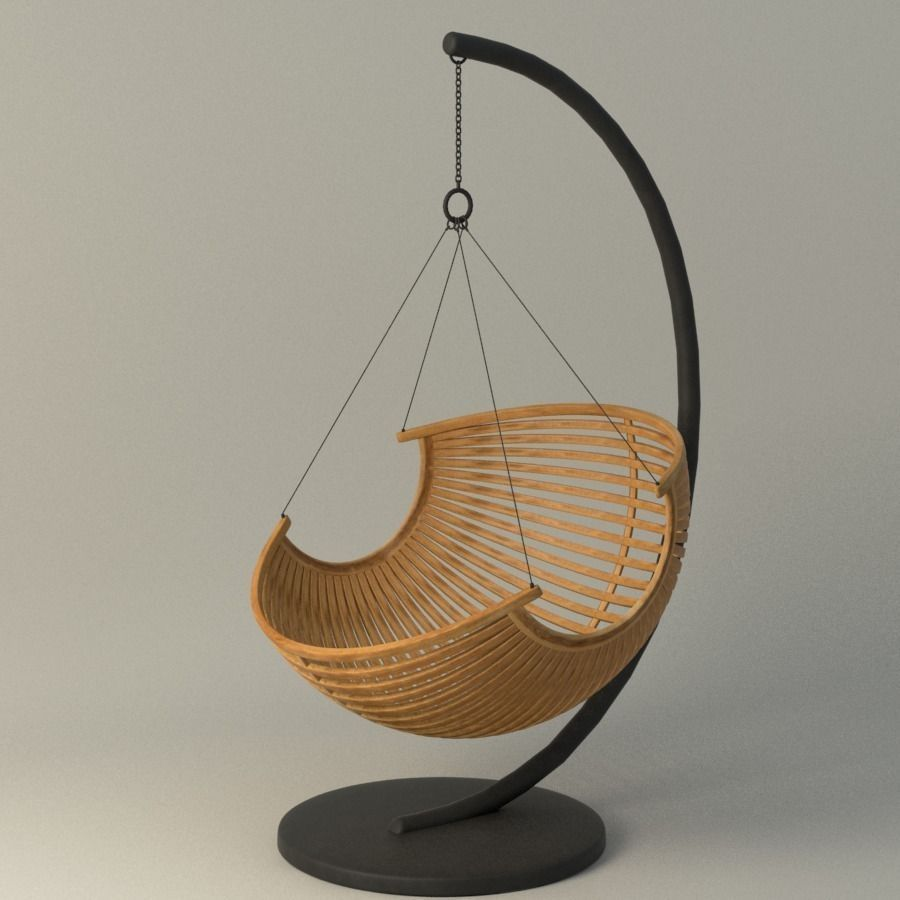 Best Buy Military Discount >> 3D Wood Hanging Chair | CGTrader