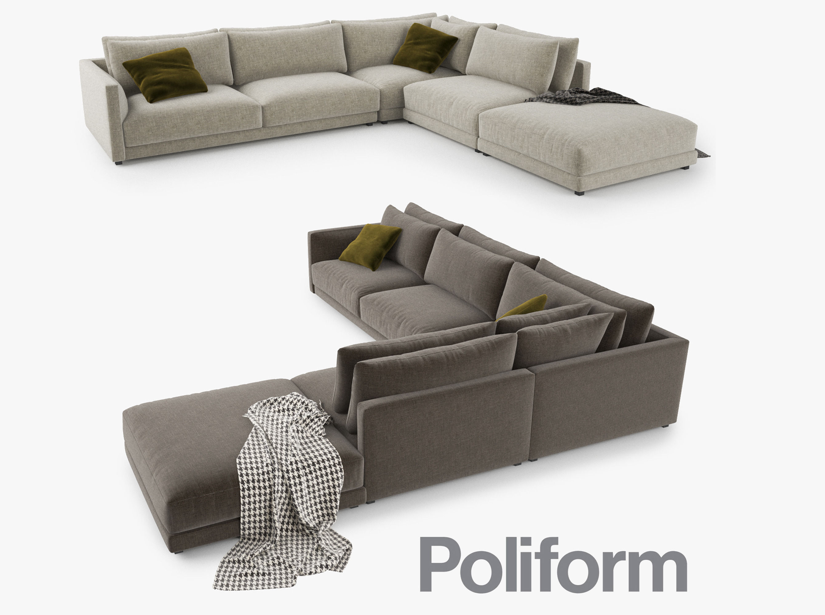 Poliform Bristol Sofa 3d Model Cgtrader