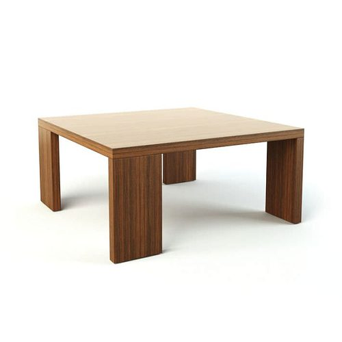 3d Brown Wooden Table Cgtrader
