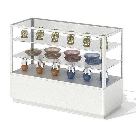 glass display shelf 3d model obj 1