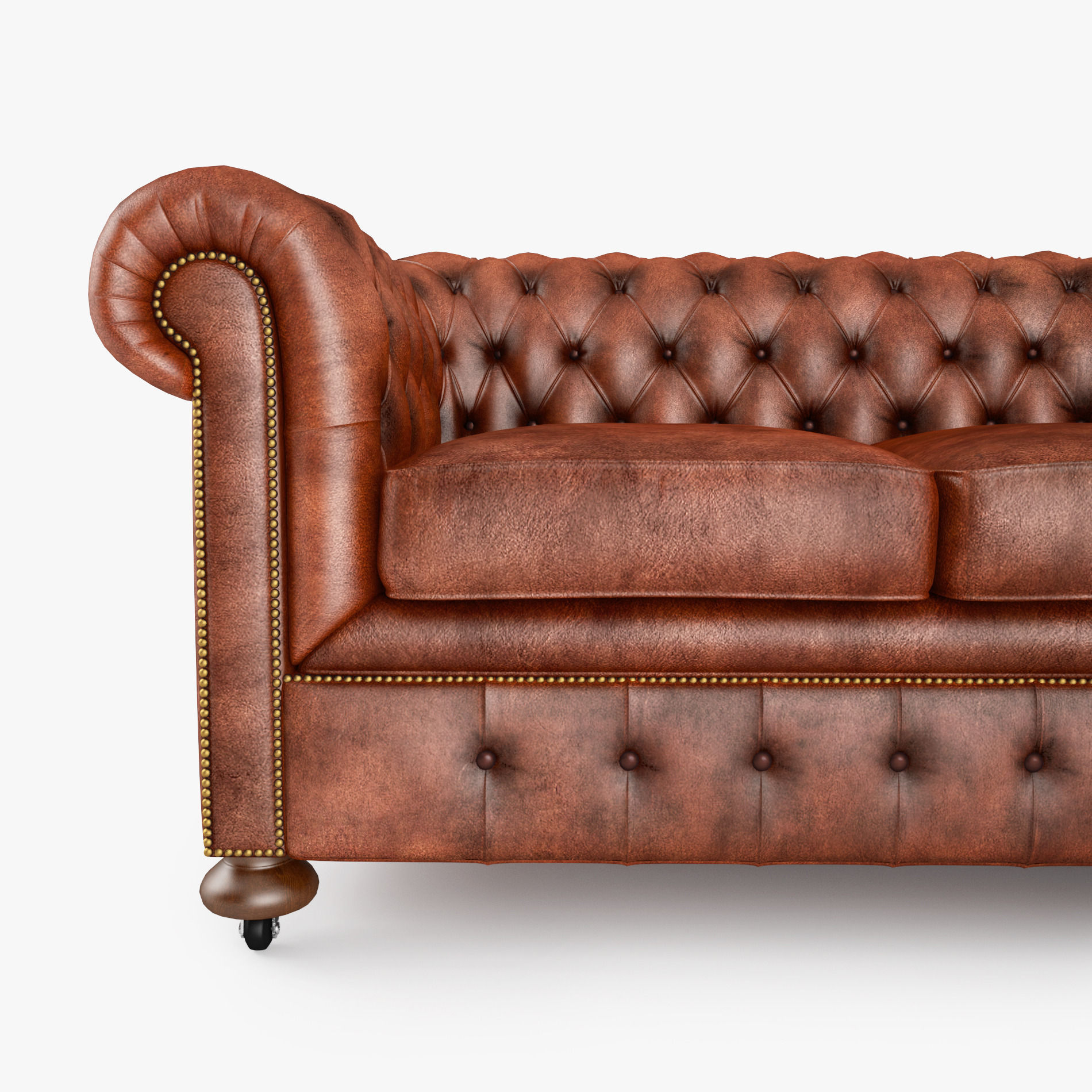 ... William Blake Sofa Chesterfield Leather 3d Model Max Obj 3ds Fbx Mtl 4  ...