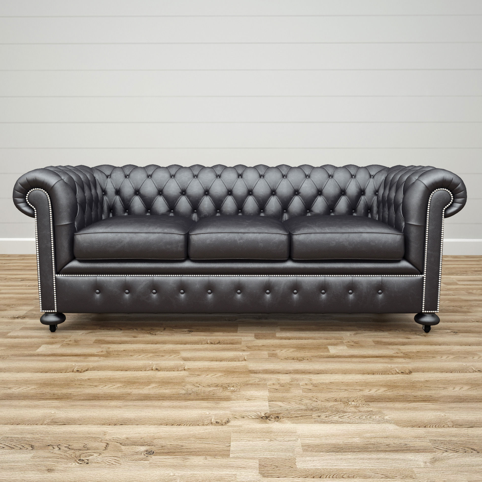 Delicieux ... William Blake Sofa Chesterfield Leather Black 3d Model Max Obj Mtl 3ds  Fbx 2 ...