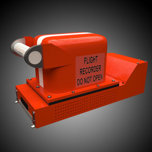 flight recorder 3d model max 1