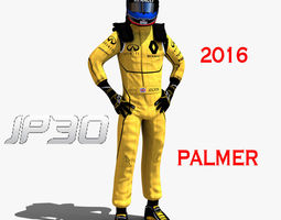 3d model realtime jolyon palmer 2016 rigged