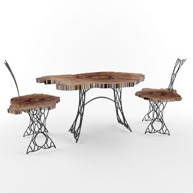 trunk and wrought iron table and chairs 3d model max 1 ...  sc 1 st  CGTrader & Trunk and Wrought Iron Table and Chairs 3D model MAX