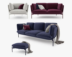 And Tradition Cloud Sofa Collection 3D