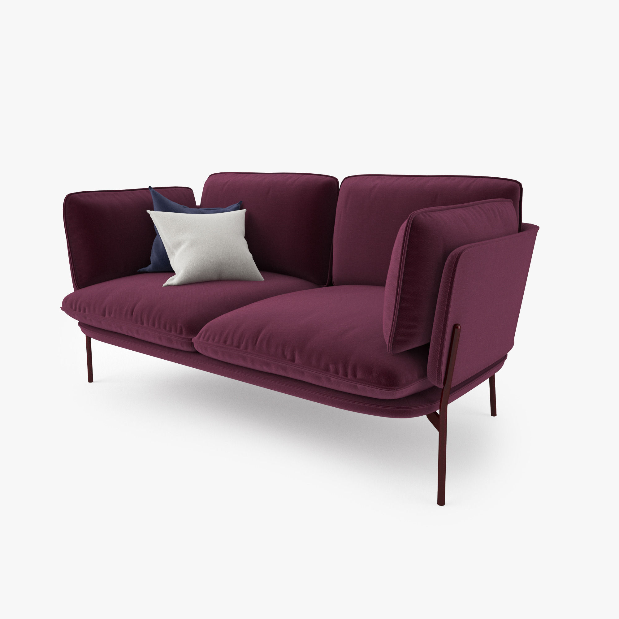 ... And Tradition Cloud Two Seater Sofa 3d Model Max Obj Mtl Fbx 6 ...
