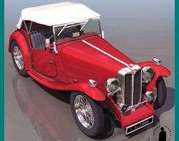 MG TC CAR 3D Model