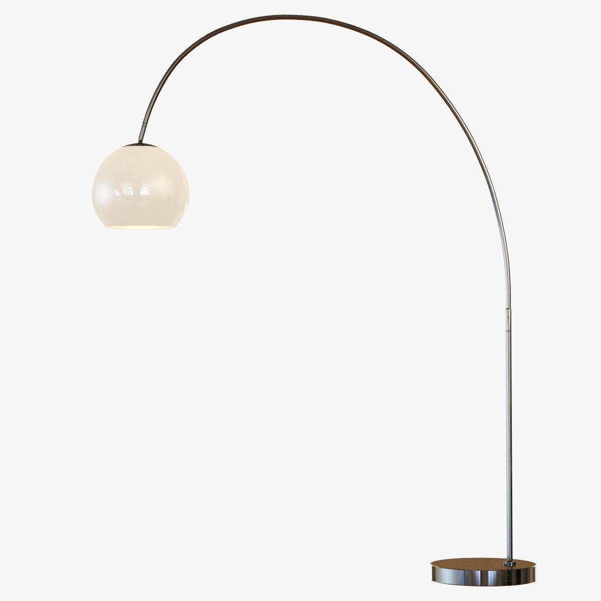 Overarching Acrylic Shade Floor Lamp 3d Model Max Obj 3ds