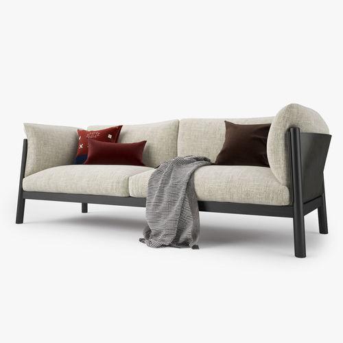 De Padova Yak Two Seater Sofa 3D model | CGTrader