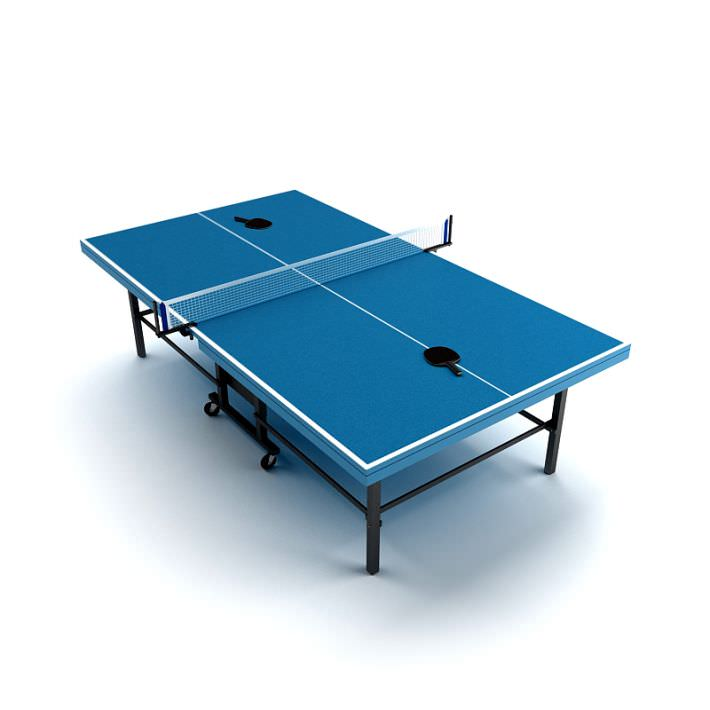 Ping Pong Table 3d Model Highly Detailed Model Of Tennis Table With