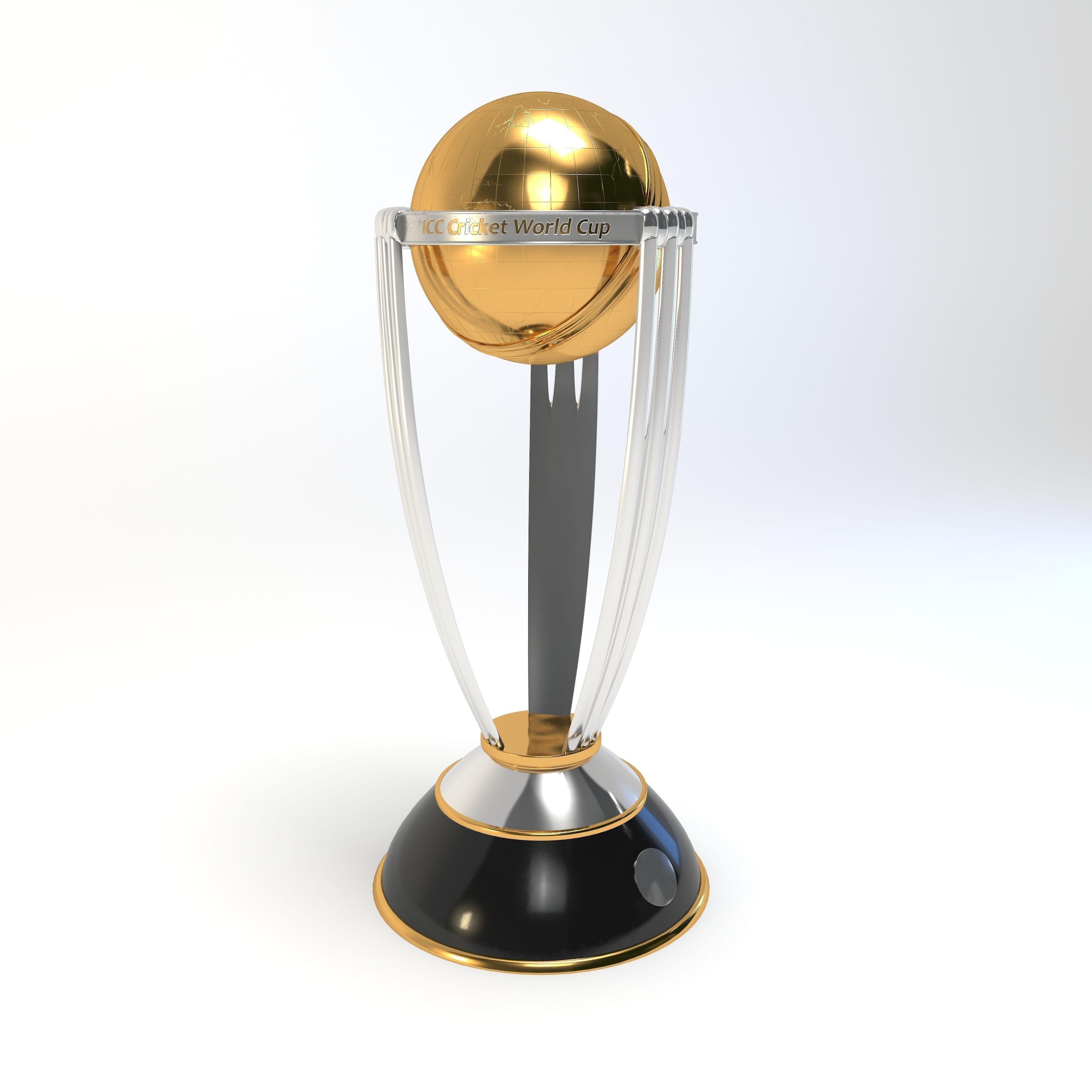 Cricket Trophy 3d Model Max Obj 3ds Fbx Mtl 5