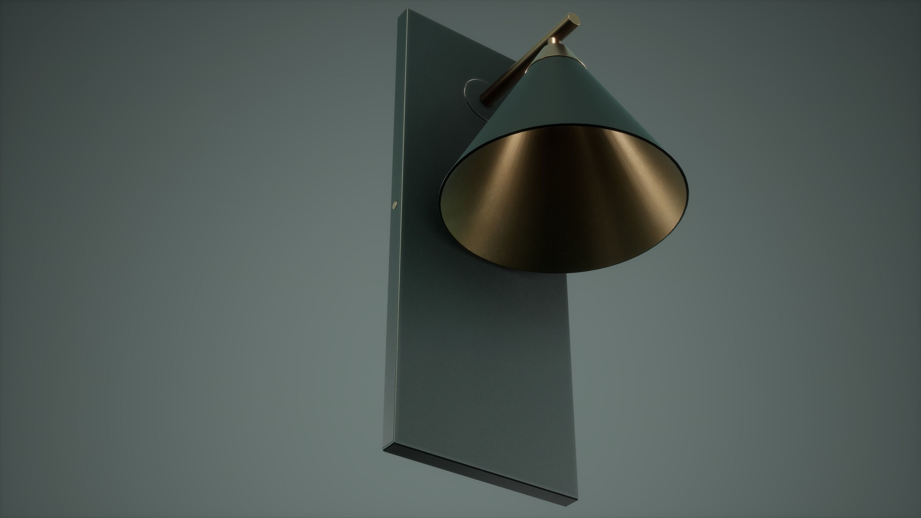 Table Lamp Low Poly Game Ready