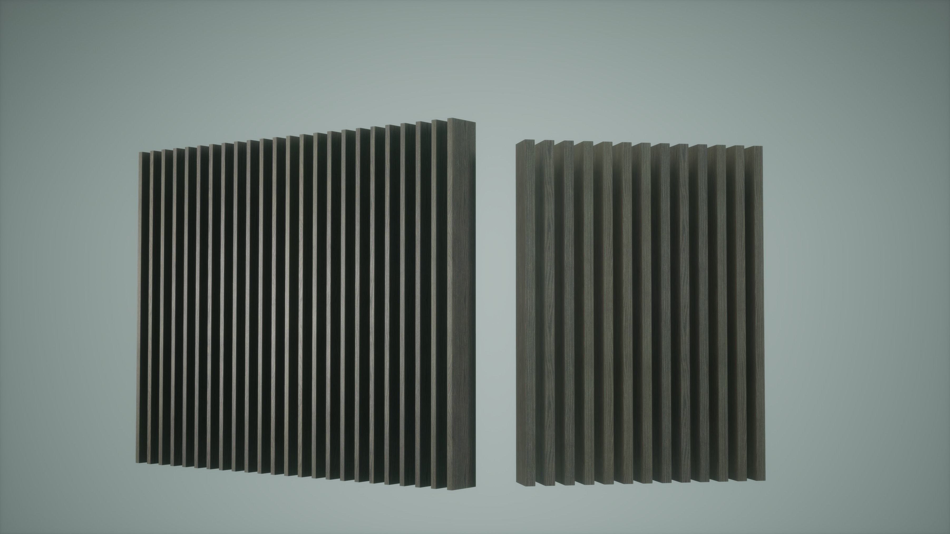 Wooden Partition Low Poly Game Ready
