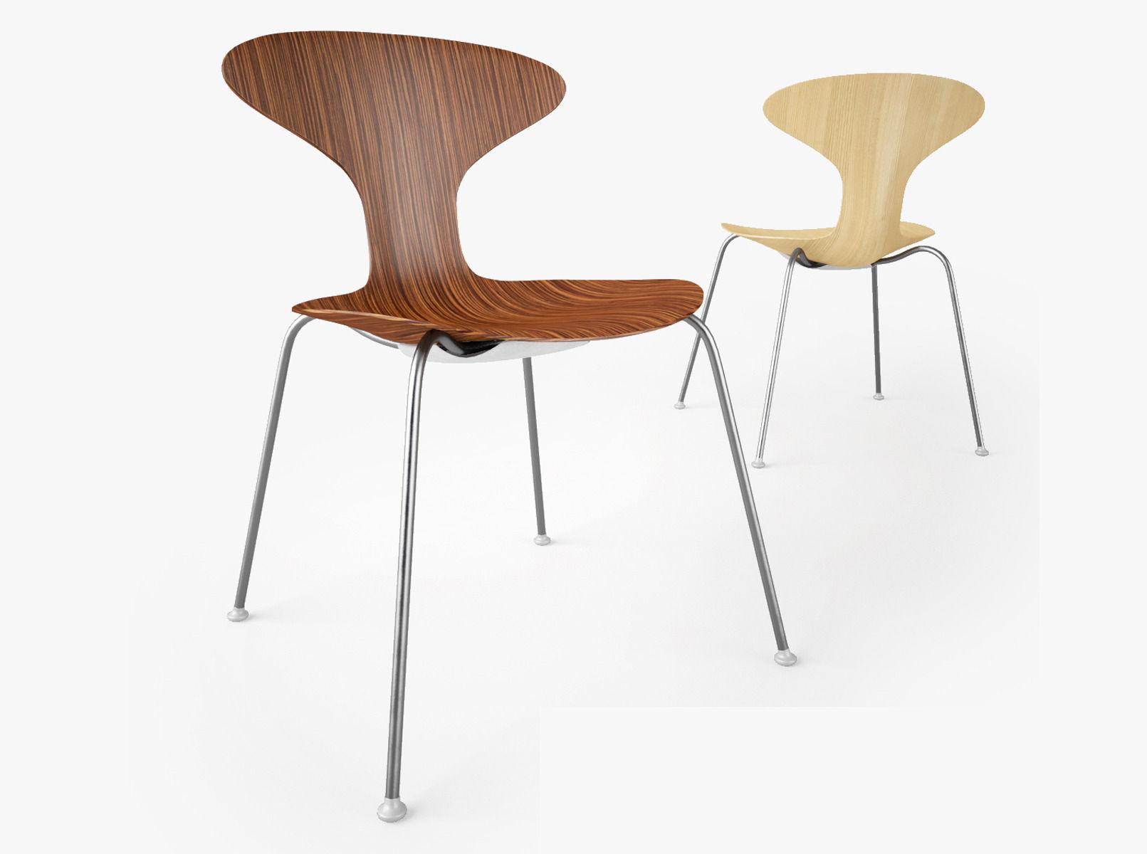 Bernhardt Design Orbit Wood Chair 3d Model Max Obj Fbx Mtl 1 ...