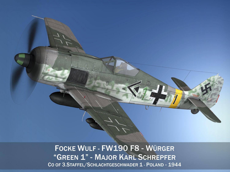 Focke Wulf - FW190 F8 - Green 1