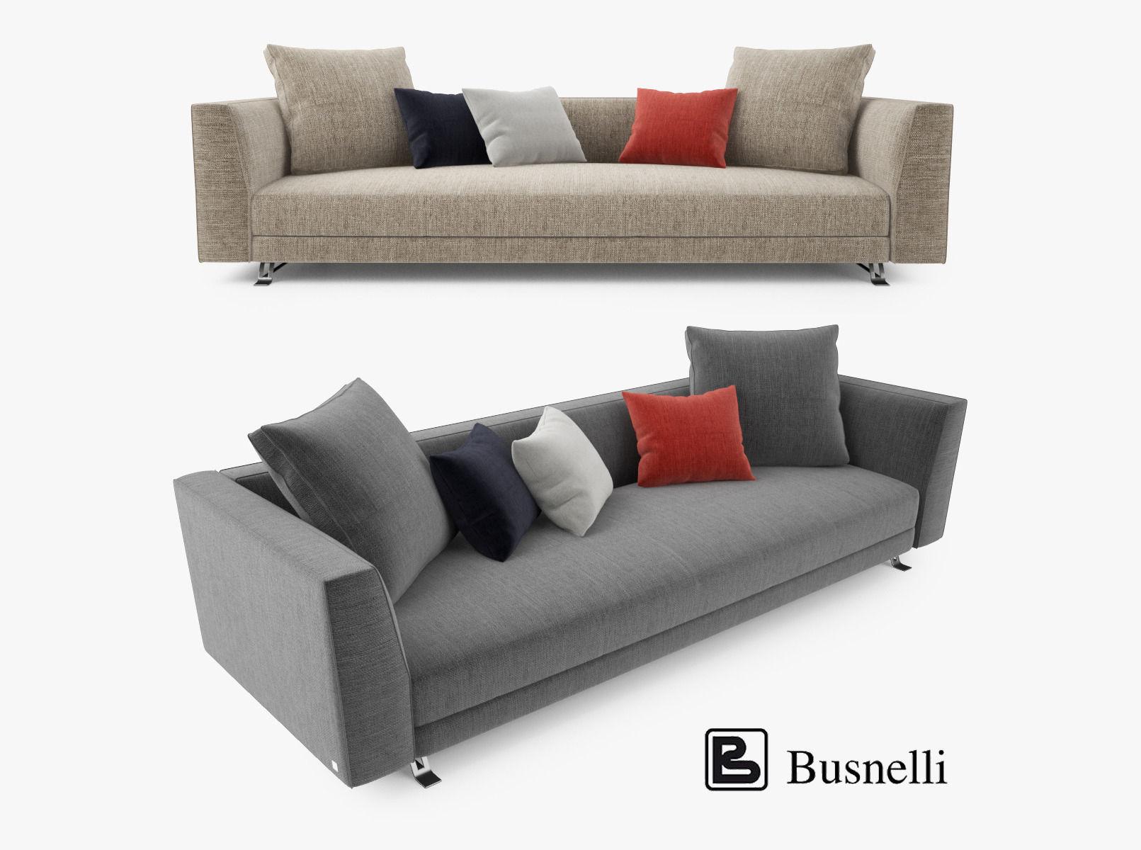 3D model Busnelli Burton Three Seater Sofa