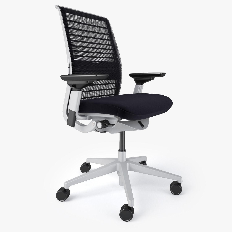 Steelcase Think Office Chair 3d Model Max Obj Fbx Mtl