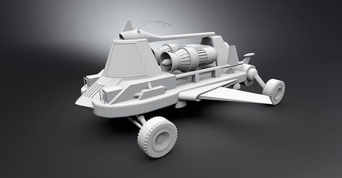 Jet Car Scale model