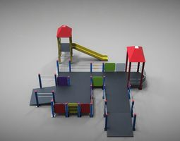 childrens playground 3d