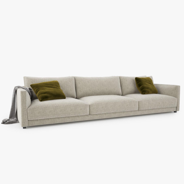 Poliform Bristol Three Seater Sofa 3D model