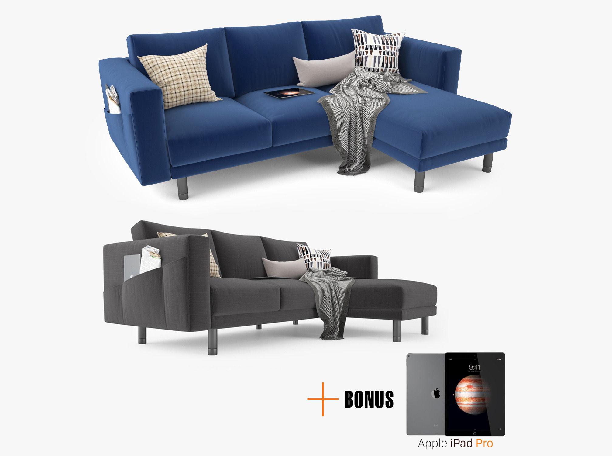 Modern Corner Sofa 3d Model Max Obj Fbx Mtl 1 ...