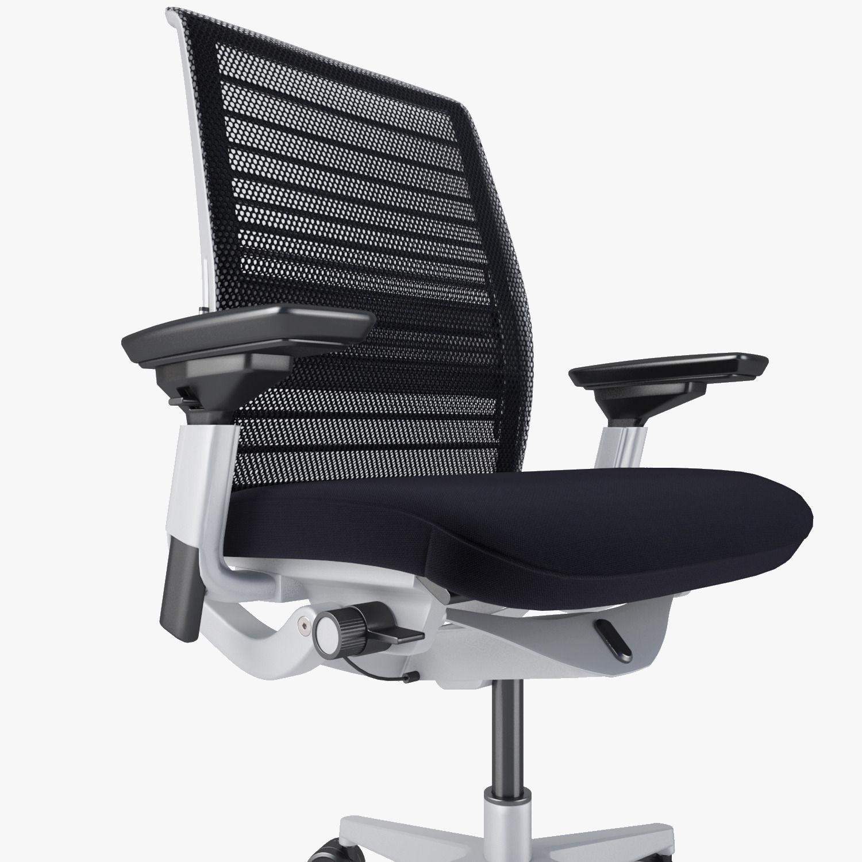 Steelcase think chair -  Steelcase Think Chair 3d Model Max Obj Fbx Mtl 8